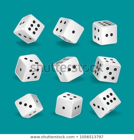 two white dices stock photo © ozaiachin