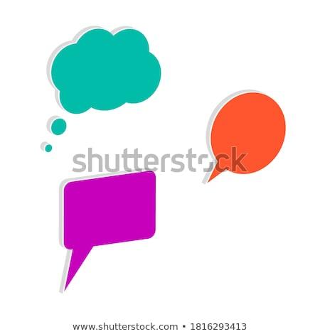 Warning Sign Square Vector Violet Icon Design Set Stock photo © rizwanali3d