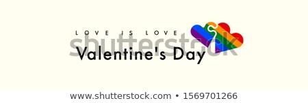 Arco-íris coração texto feliz homossexual orgulho Foto stock © nito