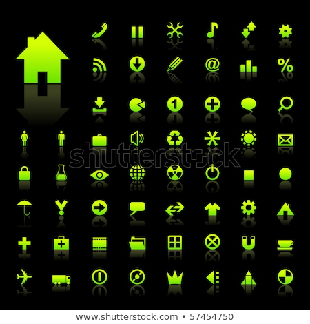 RSS Sign Green Vector Icon Design Stock photo © rizwanali3d