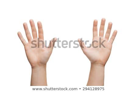 счастливым · человека · пять · жест · стороны - Сток-фото © dolgachov