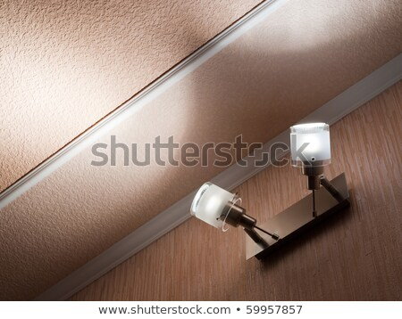 two modern ceiling lights mounted on a wall stock photo © inxti
