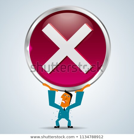 3d man holding x mark in hand concept Stock photo © nithin_abraham