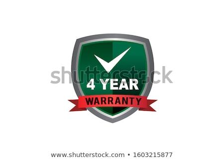 Anos garantia vermelho vetor ícone projeto Foto stock © rizwanali3d