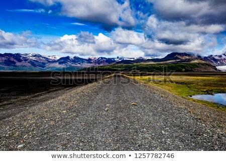 Kavicsút Izland elhagyatott tájkép út természet Stock fotó © prill