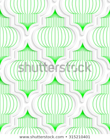 Colored 3D green vertical Chinese lanterns Stock photo © Zebra-Finch