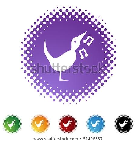 Müzik dikkat vektör mor web simgesi Stok fotoğraf © rizwanali3d