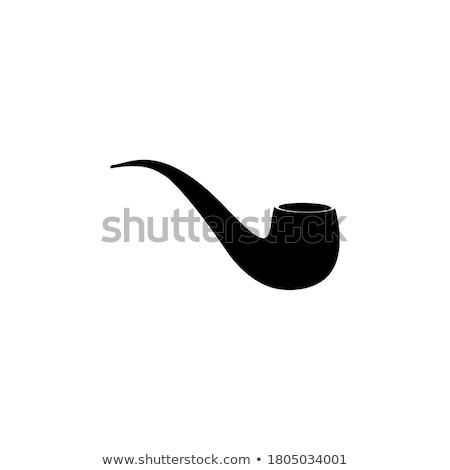 Vecteur tabac pipe illustration icône brun Photo stock © TRIKONA