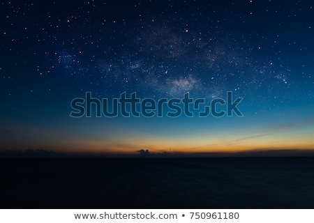 red dark night sky with stars stock photo © vapi
