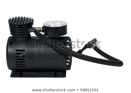 car air compressor isolated over white stock photo © jordanrusev