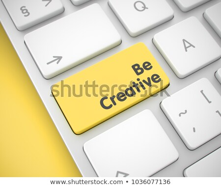 Talent développement jaune clavier bouton doigt Photo stock © tashatuvango
