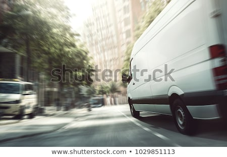 Freight cargo delivery transport minibus Stock photo © LoopAll