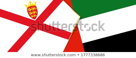 United Arab Emirates and Jersey Flags Stock photo © Istanbul2009