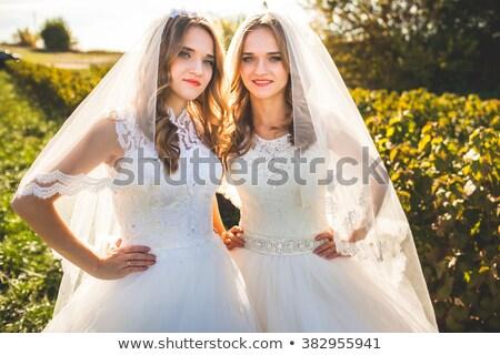 Portre iki çok güzel güzel çiçek orman Stok fotoğraf © majdansky
