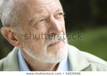 Serious mature male with mustache Stock photo © ozgur