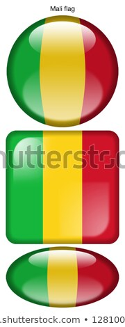 Mali Flag Oval Button Stock photo © Bigalbaloo