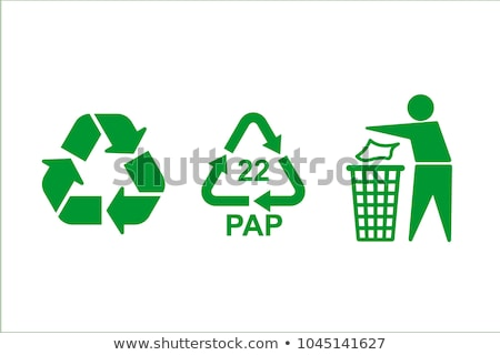 Riciclare verde icona pulsante isolato Foto d'archivio © make