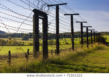 remains of iron curtain, Cizov, Czech Republic Stock photo © phbcz