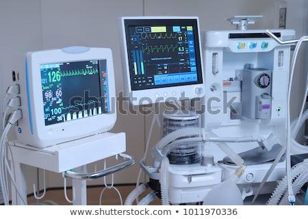 Hospital bed with medical equipments. Stock photo © RAStudio