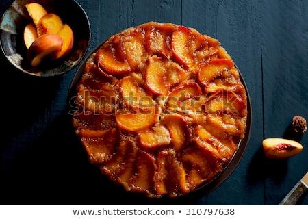 upside down peach cake Stock photo © Klinker