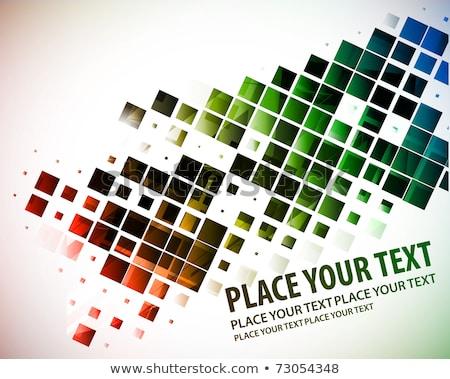 Wielobarwny cyfrowe fale wzór ilustracja streszczenie Zdjęcia stock © latent