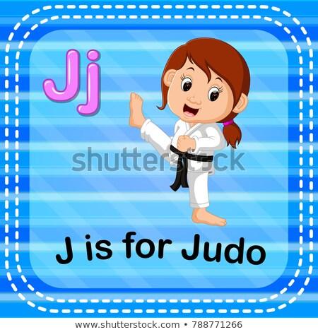 Carta judo ilustración diseno fondo educación Foto stock © bluering