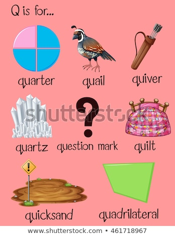 Flashcard letter Q is for quadrilateral Stock photo © bluering