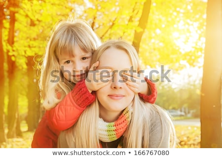 autumn leaf peek a boo stock photo © lithian