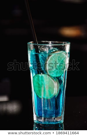 Vodka in glass and other ingredients Stock photo © bluering