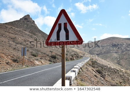 Keskeny út feliratozás fehér háttér felirat Stock fotó © bluering