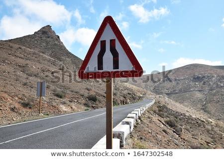 узкий дороги белый фон знак Сток-фото © bluering