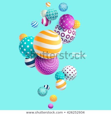 Abstrato esferas coleção colorido construção Foto stock © shekoru