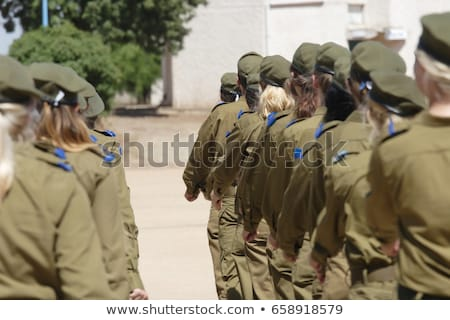 army girl in beret stock photo © seenad