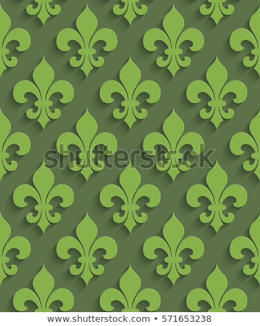 floral ornament green neutral seamless pattern for modern desig stock photo © almagami