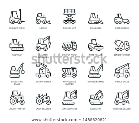 Icon design for construction with forklift truck Stock photo © bluering