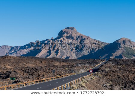 Teide volcano peak with clear blue sky in the background. Stock photo © tuulijumala