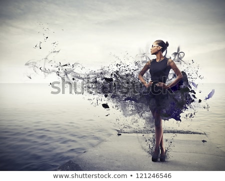 fashion woman in water stock photo © deandrobot