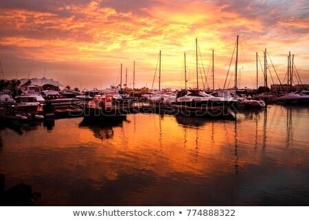 Tükröződések marina vitorlázik hajók napos nyár Stock fotó © andreasberheide