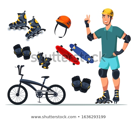 Stock photo: Skateboarder in Protective Equipment