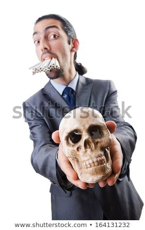 сигареты череп лице медицинской тело здоровья Сток-фото © Elnur