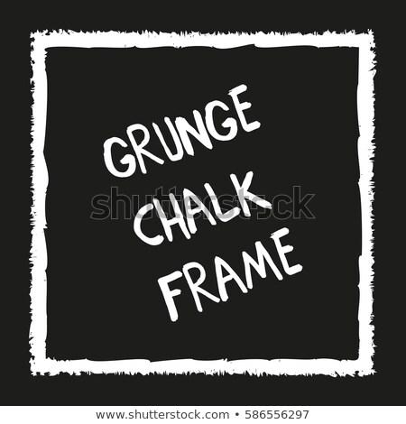 мелом карандаш квадратный черный рисованной кадр Сток-фото © pakete