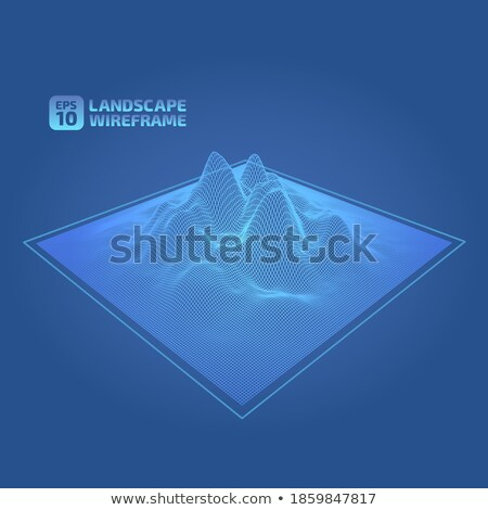 drótváz · absztrakt · mértani · izzó · vonal · vonalak - stock fotó © sarts