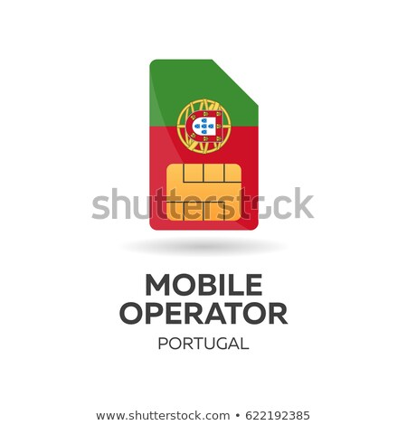 Stock photo: Portugal mobile operator. SIM card with flag. Vector illustration.
