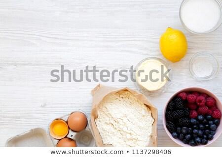blueberry pie with copy space stock photo © stephaniefrey