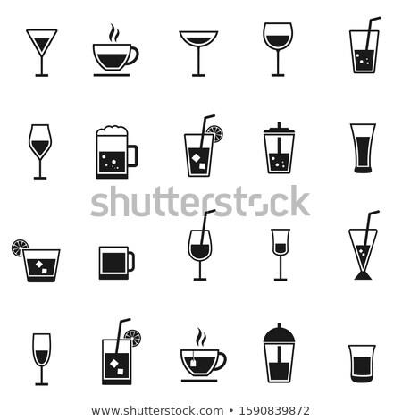 gafas · iconos · vector · primavera · fiesta · vino - foto stock © biv