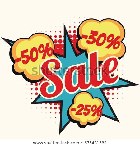 Vásár 50 30 25 százalék árengedmény Stock fotó © studiostoks