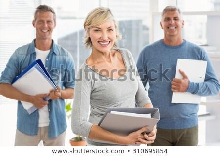 Sorridere business colleghi ritratto ufficio Foto d'archivio © wavebreak_media