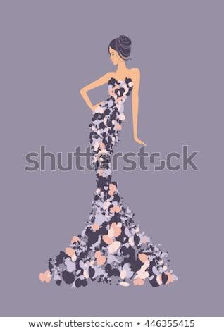 divat · modell · kreatív · hajviselet · egészséges · fekete · haj - stock fotó © julenochek