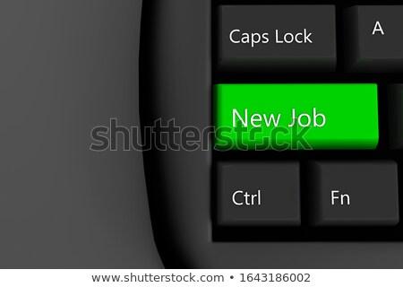Billentyűzet zöld numerikus billentyűzet új eredmények 3d illusztráció Stock fotó © tashatuvango