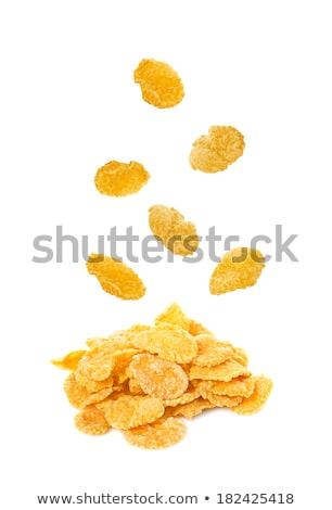 Stock photo: pile of corn flakes
